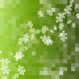 Abstract green jigsaw background Royalty Free Stock Photo