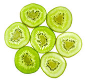 Abstract green kiwi fruit Royalty Free Stock Photography
