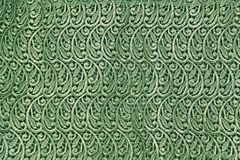 Abstract Green Lacy Background. Closeup of the trim on a curtain makes a nice textured background Royalty Free Stock Photography
