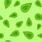 Abstract green leaf pattern royalty free illustration