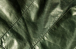 Abstract green leather texture. Backgrounad and texture for design Royalty Free Stock Images