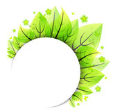 Abstract green leaves banner Royalty Free Stock Photos