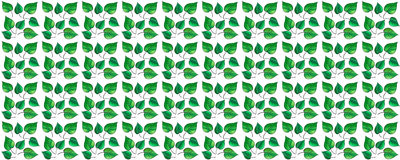 Abstract green leaves border Royalty Free Stock Images