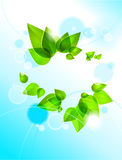 Abstract green leaves. With place for text stock illustration