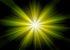 Abstract green light Stock Images