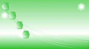 Abstract green light background. Stock Photography