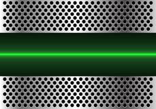 Abstract green light line technology in metal circle mesh design modern futuristic background vector Royalty Free Stock Photography