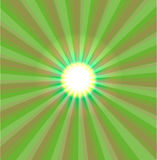 Abstract green light vector. Illustration Stock Photography