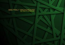 Abstract green line cross pattern overlap in black design modern futuristic background vector royalty free illustration
