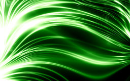 Abstract green lines. Abstract thin green lines on black background vector illustration