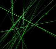 Abstract green lines on black background Royalty Free Stock Photos