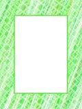 Abstract green lines frame. Retro illustration royalty free illustration