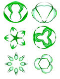 Abstract green logos Stock Photos
