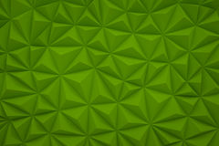 Abstract green low poly background with copy space 3d render Stock Image