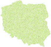 Abstract green map of Poland Royalty Free Stock Photo