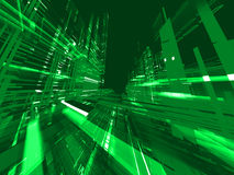 Abstract green matrix background Stock Image