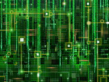 Abstract green matrix background Royalty Free Stock Images
