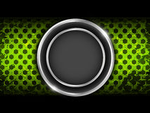 Abstract green metal background Stock Image