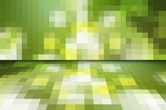 Abstract green mosaic background with perspective Stock Photography