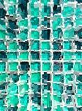 Abstract green mosaic dimension Stock Photo
