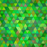 Abstract green multicolored triangle background Stock Image
