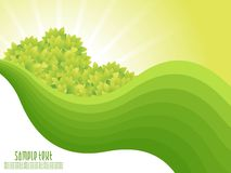 Abstract green nature background with waves Stock Images