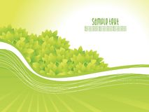 Abstract green nature background with waves Royalty Free Stock Image