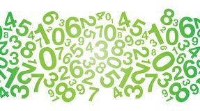 Abstract green number background Stock Photography