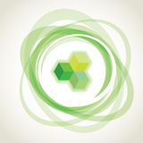 Abstract green opacity rings Stock Photo