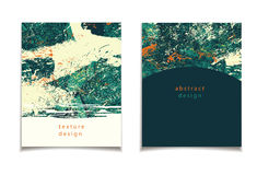 Abstract green orange card. Vector card collection with abstract design. Grunge, vintage patterns for posters, greeting cards, flyers, web designs. Anniversary royalty free illustration