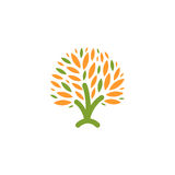 abstract green, orange color tree logo. Stock Images