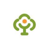 abstract green, orange color tree logo. Stock Photos