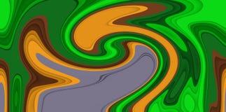Abstract green orange fluid lines background, colors, shades abstract graphics. Abstract background and texture. Abstract green orange fluid lines background vector illustration