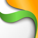 Abstract green and orange paper background Royalty Free Stock Photo