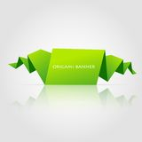 Abstract green origami speech bubble Royalty Free Stock Photography
