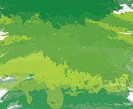 Abstract green paint artistic brush background. Vector royalty free illustration