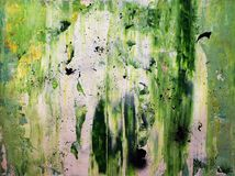 Abstract Green Painting Royalty Free Stock Photo