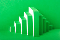 Abstract green paper composition Royalty Free Stock Image