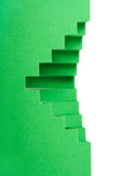 Abstract green paper compositionds, Royalty Free Stock Images
