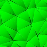 Abstract green paper triangle background Stock Image