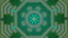 Abstract green pattern actively generating new impulses from source of power and then giving shockwave effect isolated