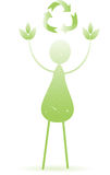 Abstract Green Person Leaves Recycle Royalty Free Stock Images