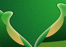 Abstract green petals. Green and yellow coloured abstract petals on a green background Stock Images