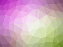 Abstract green pink gradient polygon shaped background.  Royalty Free Stock Image