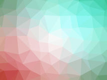 Abstract green pink gradient polygon shaped background.  Stock Photo