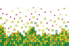 Abstract green  pixelated Stock Photos