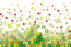 Abstract green  pixelated Royalty Free Stock Image