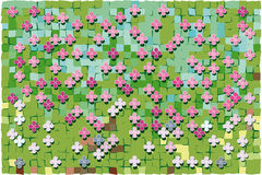 Abstract green  pixelated Royalty Free Stock Photos