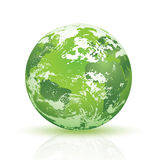 Abstract green planet Earth Stock Photography