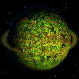 Abstract green planet with red veins Stock Photography